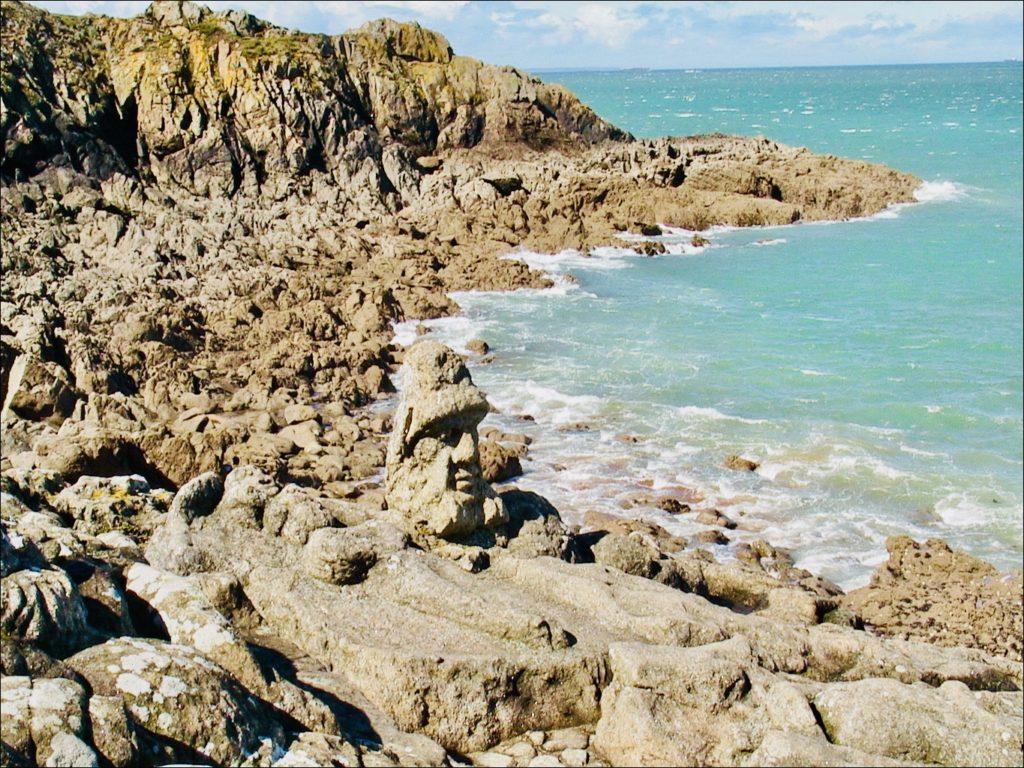 Rochers sculptés de Rothneuf sur la Côte d'Émeraude